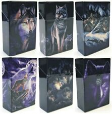 Eclipse Wolf Design Hard Plastic Crushproof Cigarette Case, 2ct, Kings 3116D17-2