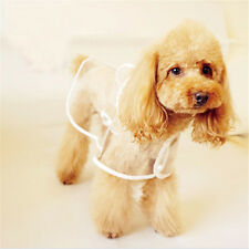 Thin Puppy Dog Poncho Clothes Pet Raincoat Waterproof Transparent Foldable