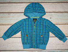 Reserved Boys Checked Pattern Hooded Jacket Size 18-24 Months