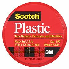 Scotch Colored Vinyl Plastic Tape (MMM190RD)