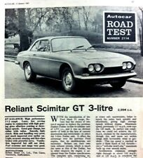 RELIANT SCIMITAR GT 3-LITRE -1967 - Road Test from The AUTOCAR