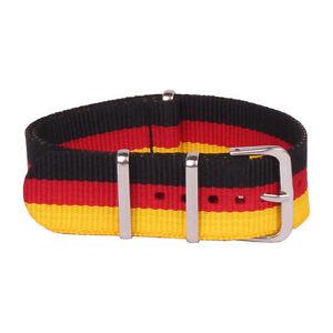 22mm 20mm 18mm Woven Belt Watch Black Red Men Women Nylon Strap Wristwatch Bands