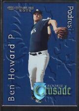 BEN HOWARD 2002 DONRUSS #26 RC ROOKIE CRUSADE PADRES SP #0998/1500