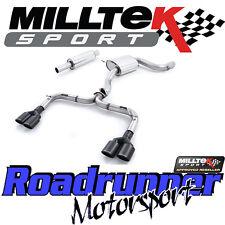 """MILLTEK SSXVW325 GOLF GTI MK7-R Style 3"""" Di Scarico Cat Indietro Non Res Posteriore Nero"""