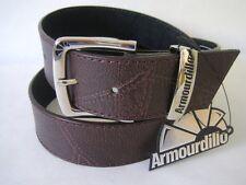 ARMOURDILLO Belt Dustorm Dust Storm Brown Split Leather NWT Size L Mens