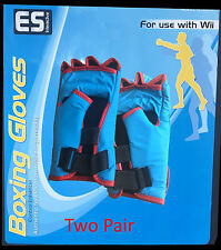 Two Pair Wii Boxing Gloves - ES Interactive With Rubber Sleeve or Control NIB