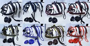 NEW NYLON WEBBING DRIVING CART HARNESS SET COB SIZE FOR SINGLE HORSE TOP QUALITY