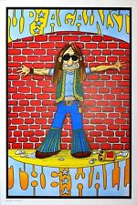 Vintage NOS 1970's Up Against The Wall Hippy Protest Cops Poster Vagabond Pinup
