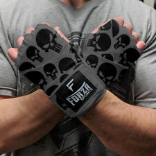 "Forza Sports 180"" Mexican Style Boxing and MMA Handwraps - Skulls Gray"