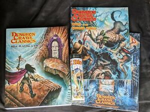 Dungeon Crawl Classics Softcover Rule Book, Judge's Screen, 14-Die Set,...
