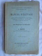 DHERSE : MANUEL D'ELEVAGE (FAISANS, TRAGOPANS...). Longueval, Aisne, 1891.