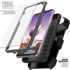 LG Stylo 6/5/4/3/2 Plus Belt Clip Stand Holster Phone Case Cover SCREEN PROTECTR