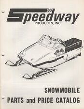 1972 SPEEDWAY SNOWMOBILE PARTS MANUAL P/N 11230 (312)