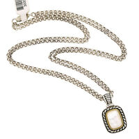 """GV Jewelry 14K Yellow Gold 925 Silver Mother Of Pearl Cable Pendant Necklace 18"""""""