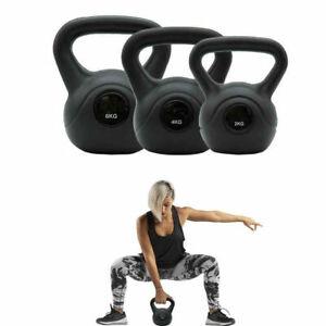 Vinyl Kettlebell Weight Fitness Home Gym Equipment Workouts 2-6kg