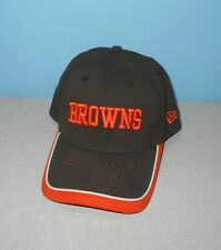 New Era Cleveland Browns Brown Team Color 39THIRTY Small/Med Fitted Hat Signed