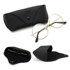 Leather Eye Glasses Sunglasses Holder Box Case Cover Folding Sunglasses Case.