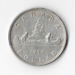 1947 BL7 Canadian Silver Dollar