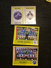 Panini Football 87 - Millwall & Oldham Badges and Teams