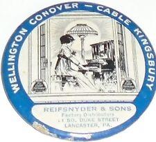 Vintage Player PIANO Pocket Mirror Wellington Conover Cable Kingsbury Lancaster