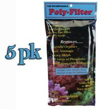 "5 Pk Poly-Filter Coussin 4 "" x 8 "" Phosphate/ Ammoniac/ Bio Solvant Poly Marine"