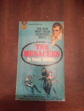 1968 The New Matt Helm Suspense Novel:  The Menacers by Donald Hamilton