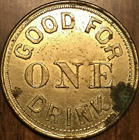 MAPLE CREEK COMMERCIAL HOTEL GOOD FOR ONE DRINK TOKEN N.W.T.J.H.F