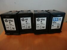 LOT OF USED & EMPTY VIRGIN HP 61/61 XL BLACK INK CARTRIDGES