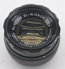 Nikon EL-Nikkor 50mm Enlarging Lens 1:2.8-16 Japan - Fair Glass USED Y763