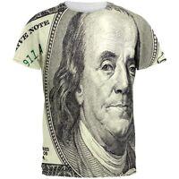 Ben Franklin Hundred Dollar Bill All Over Adult T-Shirt