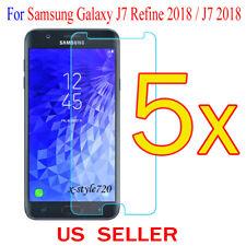 5x Clear Screen Protector Guard Film For Samsung Galaxy J7 Refine 2018 / J7 2018