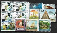 PAPUA NEW GUINEA, 12 VARIOUS, USED