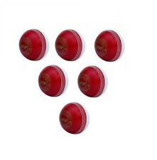 Light Spin Red White Pack Of 6 Cricket Ball Coaching Training Outdoor Practice