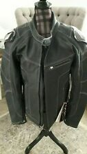 HONDA LIFESTYLE LEATHER JACKET BLACK SIZE MEDIUM 100% LEATHER