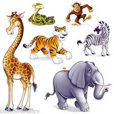 Jungle Wild Fun Animals Party Scene Setter Add-on Props Decorations TIGER MONKEY