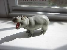 "Safari Ltd Grey Hippopotamus 1996 Retired 3"" Miniature Collectible Toy African"