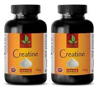 Weight Gain - CREATINE POWDER 100g - Muscle Gainer Supplements - 2 Bottles
