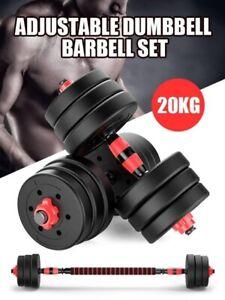 **20% OFF** BRAND NEW 20kg Adjustable Dumbbell Set Weights Dumbbells Barbell Gym