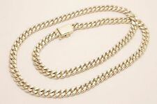 """Long Taxco Mexican 925 Sterling Silver Curb Chain Necklace. 142g, 70cm, 27.5"""""""