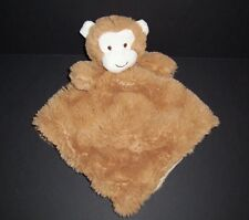 Lollypop Brown Tan Monkey Baby Blanket Fluffy Shaggy Security Lovey