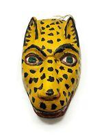 Mexican Dance Mask Style Decorative Jaguar Head