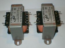 More details for 2 x 5 watt 5k single ended output transformers with m6 cores