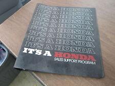 Vintage 1982 Its A Honda Sales Support Program 3 Ring Binder Motorcycle