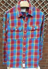 ABERCROMBIE & FITCH MENS UK SIZE LARGE MULTICOLURED CHECK LONG SLEEVE SHIRT VGC