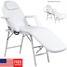 Adjustable Portable Chair Beauty Salon Bed Facial Tattoo Parlor Spa Masage Table
