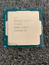 Intel Core Processor 6 Core i7-8700 3.2GHz 12MB Cache LGA1151 8GT/s SR3QS