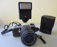 Pentax Asahi ME Super SLR camera with ZOOM 40-80mm Lens AF200S Flash Great Cond.