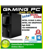 INTEL DUAL CORE 2.8Ghz Gaming PC Computer 4GB ram 1tb HDD Haswell HD Graphics
