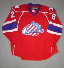 Rochester Americans Kamil Kreps # 28 red game used jersey