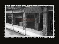 40s BUILDING STREET WAR BUNKER PRINTING WATCH SHOP Vintage Hong Kong Photo 1059